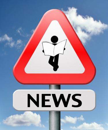 news update: latest hot and breaking news update big daily headlines Stock Photo