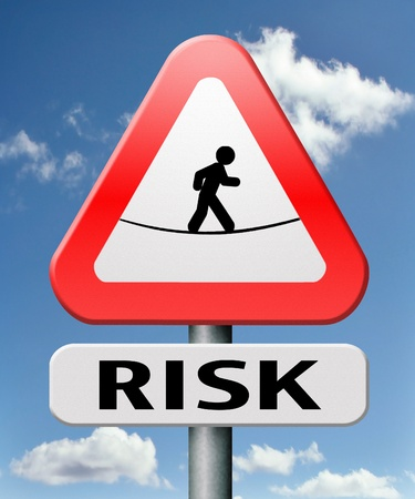 risk assesment road warning sign danger ahead Stock Photo - 17411514