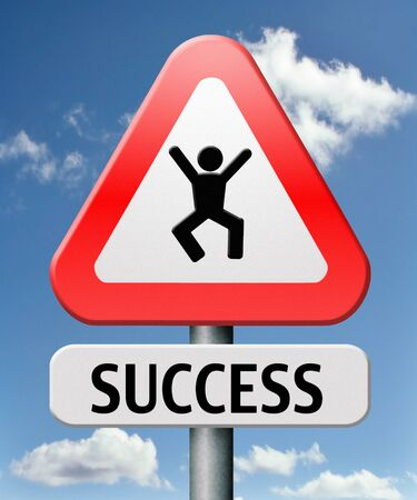 success jump of joy being happy successful and lucky achieve goals Stock Photo - 17411547
