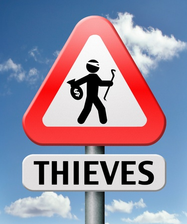 thieves alert and protection of identity theft by neighborhood or crime watch Stock Photo - 17411432