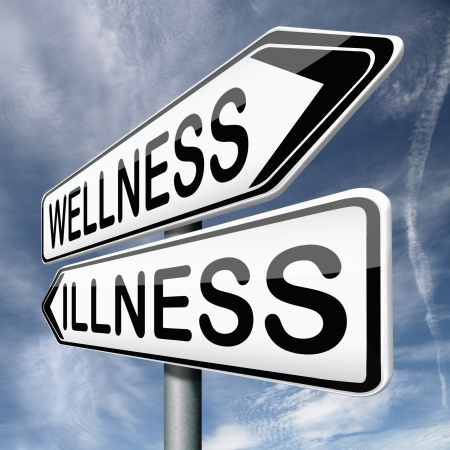 wellness or illness good or bad health Stock Photo - 17411681