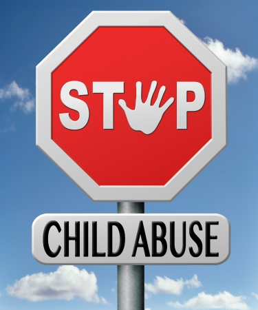 stop child abuse prevention from domestic violence and neglection end abusing children Stock Photo - 17463023
