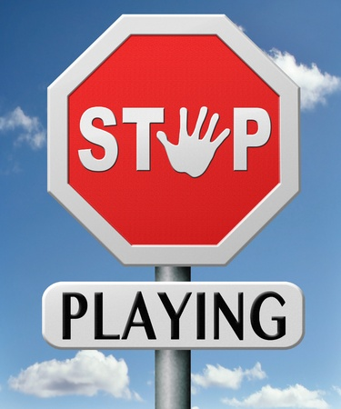stop playing no more games become serious growing up Stock Photo - 17463043