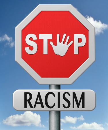 stop racism and discrimination equal opprtunities for everybody sexual and racial equality human rights Stock Photo - 17463052