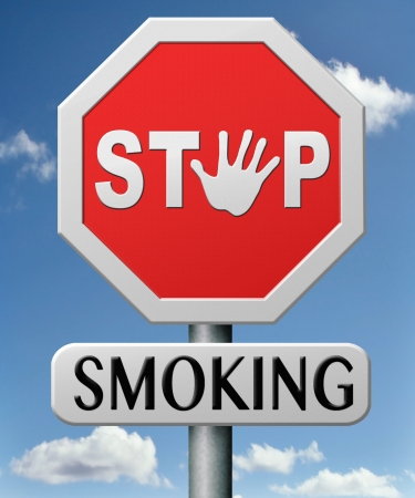 stop smoking trying to quit smoking it is a bad habit and dangerous addiction no more cigarettes Stock Photo - 17463051