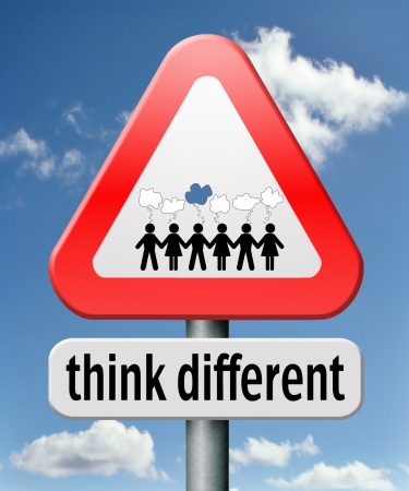 non conformist: think different outside the box individual thoughts individuality and own will non conformist