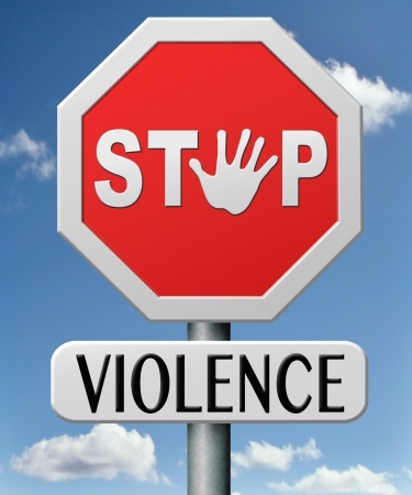 no violence stop domestic aggression and  war bring peace no more fighting prevention Stock Photo - 17463045