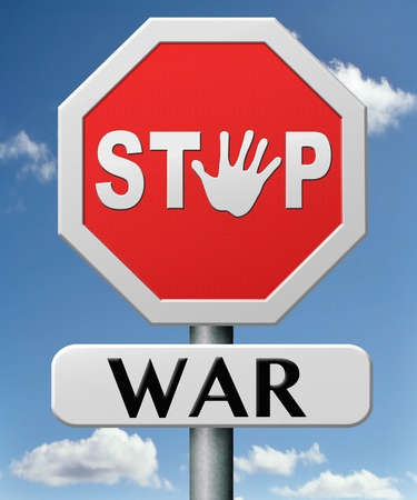 stop war bring peace no more fighting Stock Photo - 17463035