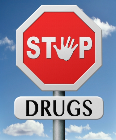 illegal drugs: drug abuse and addiction stop addict by rehabilitation in rehab center no drugs Stock Photo