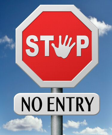 no entry access denied staff and members only password required restricted area Stock Photo - 17463062