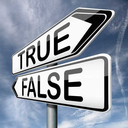 accusations: false or true telling truth or lies reality or fantasy real story or not Stock Photo