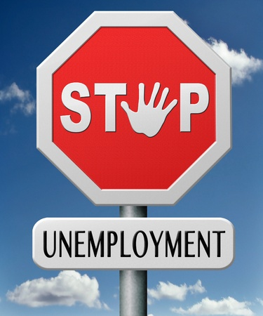 stop job loss search and create new jobs end unemployment Stock Photo - 17463073
