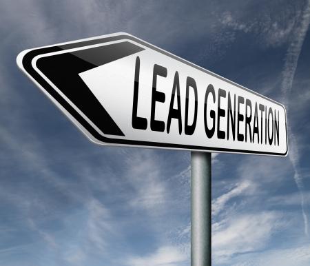 lead generation internet marketing for online market ecommerce sales Stock Photo - 17463113