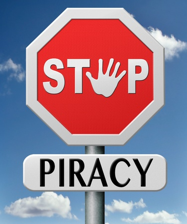stop piracy and illegal copying copywright and intellectual property protection protect copy of trademark brand Stock Photo - 17463059