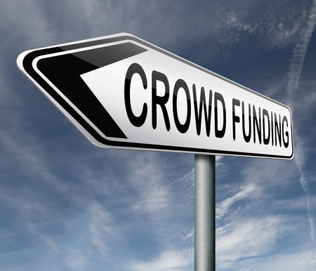 crowd funding crowdfunding or sourcefunding public money raising for a project photo
