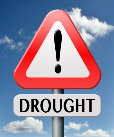 barrenness: drought caused by water shortage leads to crop failure and food scarecy and desertation