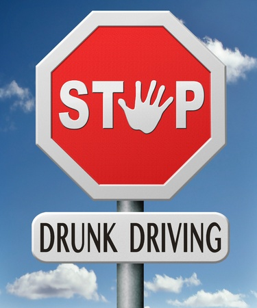 drunk driving drink and drive under influence of alcohol intoxication intoxicated drunken driver  Stock Photo - 17841947