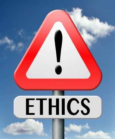 ethics and morals: ethics moral value be polite and responsible dilemma in morality values Stock Photo