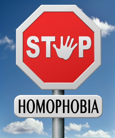 homosexuality: stop homophobia  homosexuality  lesbian, gay, bisexual or transgender hostile behavior such as discrimination and violence on the basis of sexual orientations equal human rights Stock Photo
