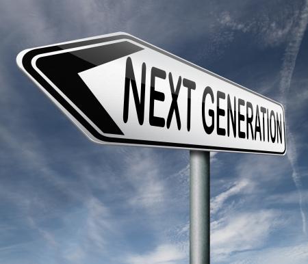 modern generation: generaci�n m�s reciente actualizaci�n del modelo de la nueva versi�n Foto de archivo