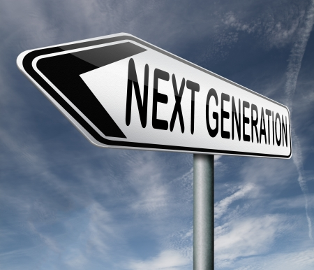 a generation: next generation latest model new version update  Stock Photo