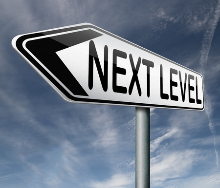 difficult lives: next level higher and more difficult levels game upgrade or newest software degree of diffculty Stock Photo