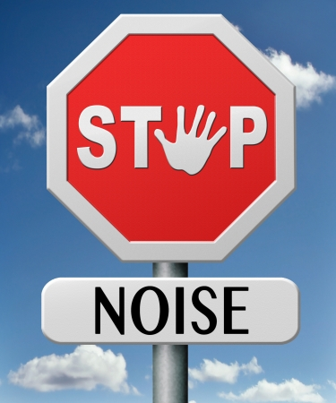 stop noise no loud sound shut down the volume too many decibels photo