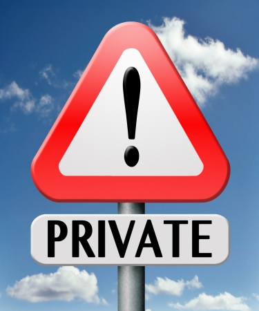 private information no access privacy notice confidential information protection personal info Stock Photo - 17841955