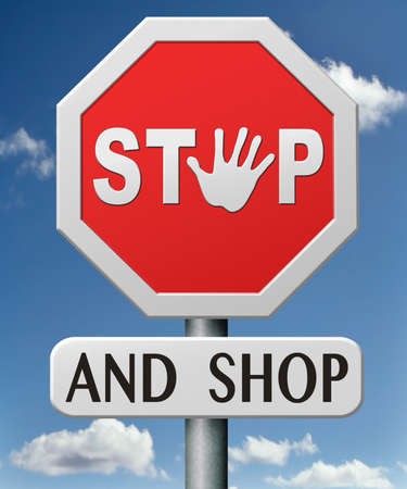 stop and shop online on internet webshop shopping on the web icon Stock Photo - 17841945