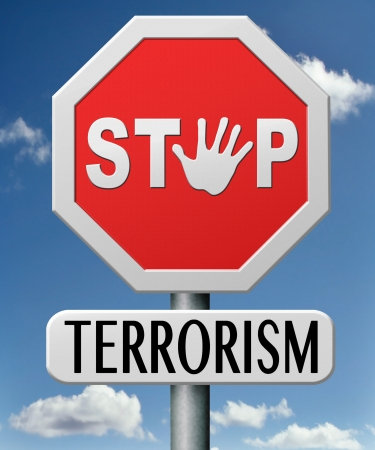 stop terrorism war on terror against terrorist  Stock Photo - 17841963