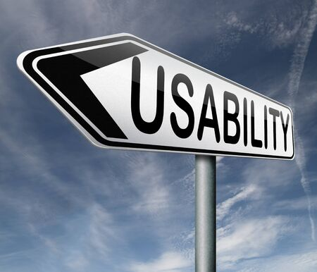 usability: usability user friendly and accessibility test or audit for a website design Stock Photo