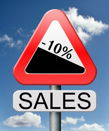 bargain: sale 10% off winter off for summer sales text on road signconcept for online web shop internet shopping icon or button. Bargain discount or reduction for extra low price promotion.