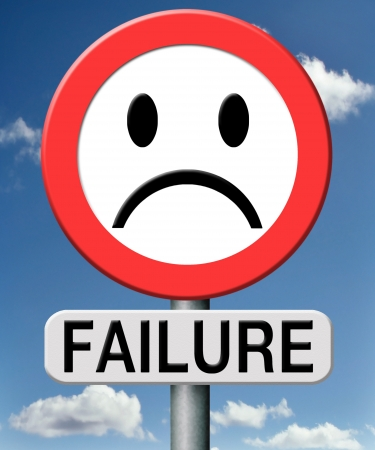 failure fail exam or attempt can be bad especially when failing ian inportant job task or in your study failing an exam. You feel frustrated and being a looser Stock Photo - 18534683