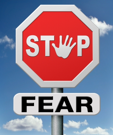 stop fear or being afraid for snakes height needles spiders darkness arachnaphobia phobia psycholigical paralysis panic attack Stock Photo - 18534722