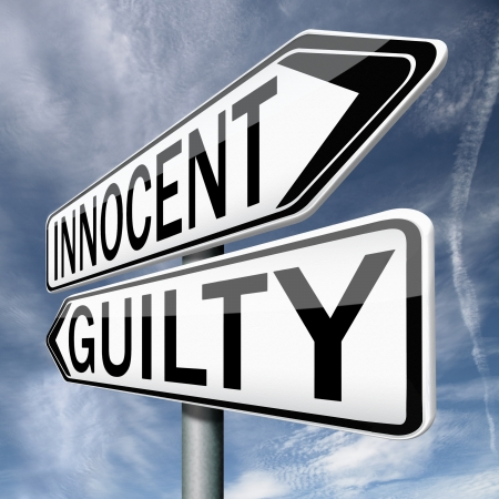 prosecution: innocent or guilty, presumption of innocence until proven guilt as charged in a fair trial. Crime punishment!