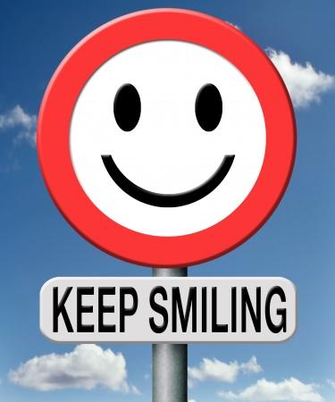 actitud: mantener la sonrisa Foto de archivo
