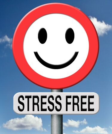 stress free totally relaxed without any pressure succeed in stress test trough stress management and control external pressure photo