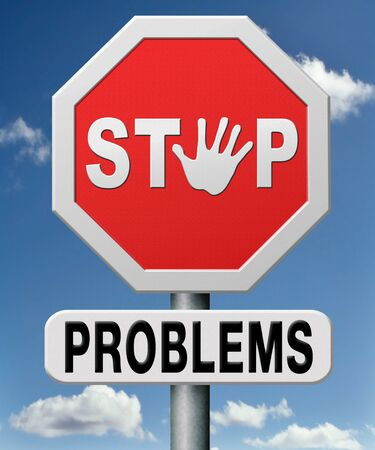 stop problems, solve problem and find answers solving questions with correct answer.  photo