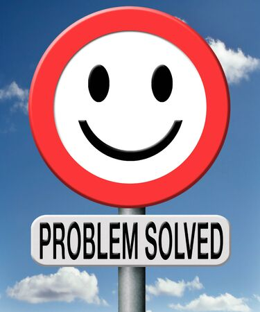 problem solved search and find a solution to all your problems Stock Photo - 18534746