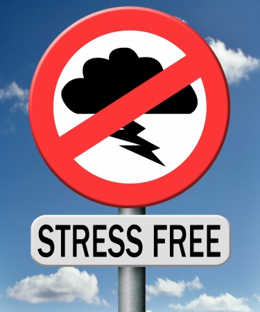 stress free zone trough control management and therapy reduce the work pressure in your job. Learn to relax and become zen and stressless.  photo