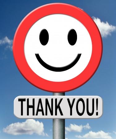 dank u: dank u dank uiten dankbaarheid notitie op een verkeersbord