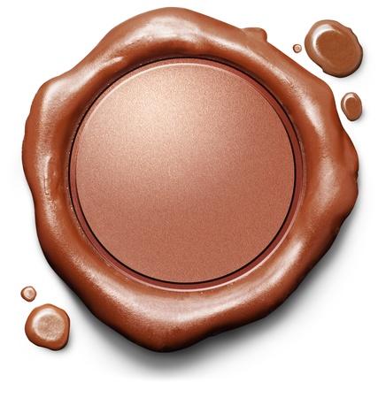 sceau cire rouge: Cachet de cire rouge ou cachet. Contr�le de la qualit� Vider blanc ic�ne ou un bouton garanti.