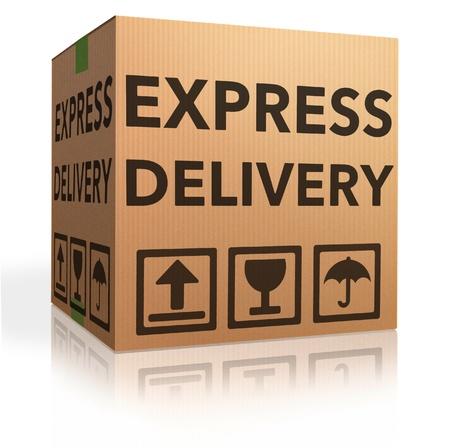 webshop: Express delivery cardboard box special shipment online internet order from webshop