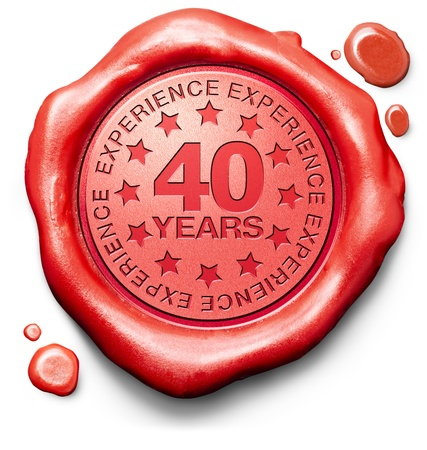 top year: forty years experience 40 year of specialized expertise top expert specialist best service guaranteed