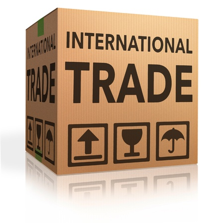 international trade on global and worldwide market world economy freight transportation for import and export  photo