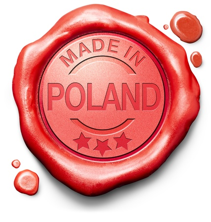 made in Poland original product buy local buy authentic Polish quality label red wax stamp seal photo