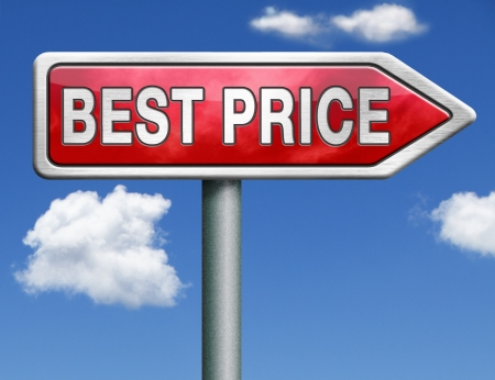 best price button low price or bargain special offer web shop icon red road sign arrow Stock Photo - 20125379