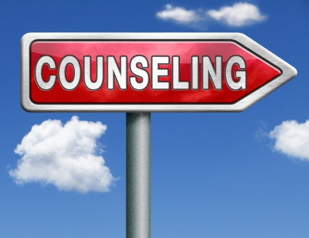 counselor: Counseling mariage therapy psychotherapy psychology session professional help Stock Photo
