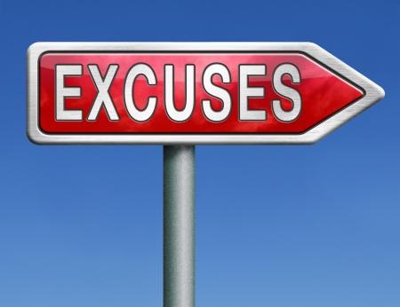 excuser: faire des excuses apr�s excuses ou une erreur justifient votre choix appologies signe fl�che rouge de la route Banque d'images