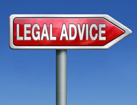 asesoria legal: asesoramiento legal o informaci?n de asesor letrado cuando ir a juicio Foto de archivo